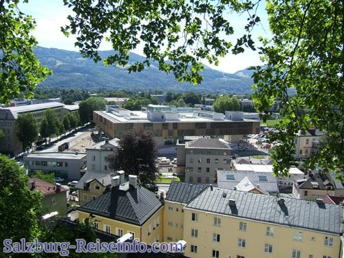 Nonntal mit der neuen Universität Salzburg