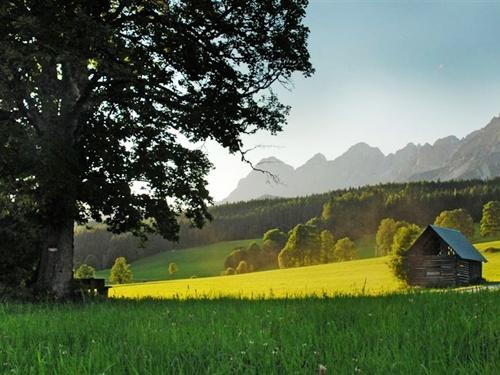 Bergpanorama im Dachstein Gebirge Wanderurlaub