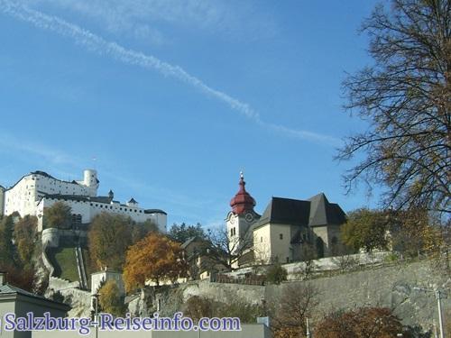 Salzburg Nonntal: Bild mit Kloster und Burg