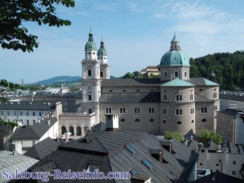 Blick Altstadt Salzburg von der Festung