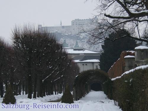 Wunderschöner Festungsblick vom Mirabellgarten
