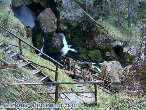 Hexenkessel des Wasserfall Golling