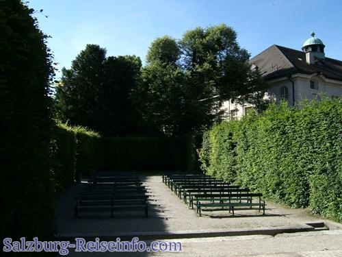 Blick Bühne Heckentheater Salzburg