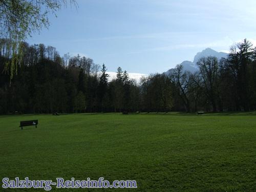 Liegewiese mit Blick auf bayerische Alpen