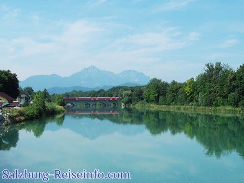 Freilassing Eisenbahnbrücke Saalach