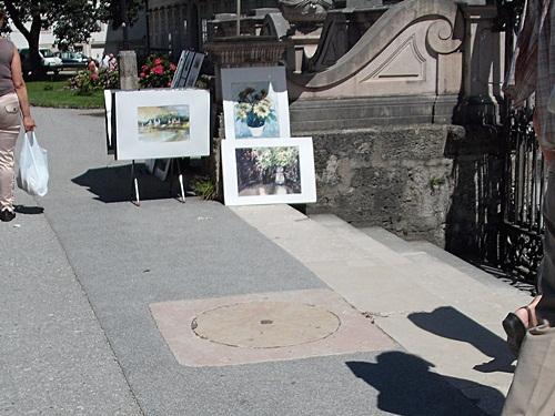 Salzburggemälde Straßenverkauf