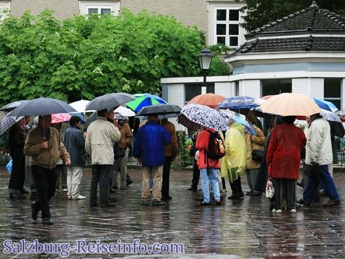 Regen in der Salzburger Altstadt