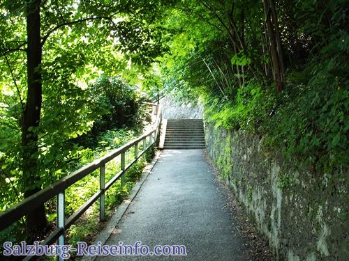 Weg auf die Festung Salzburg