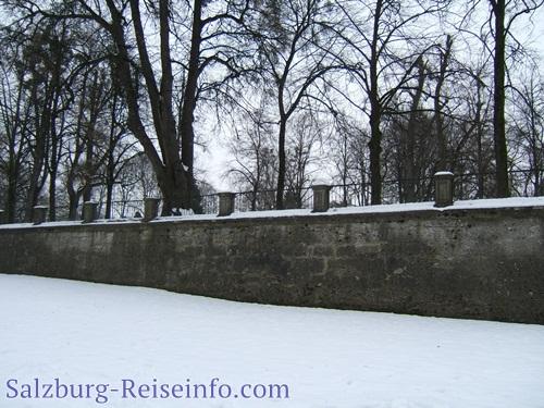 Mirabellgarten: Zwergerlgarten im Schnee